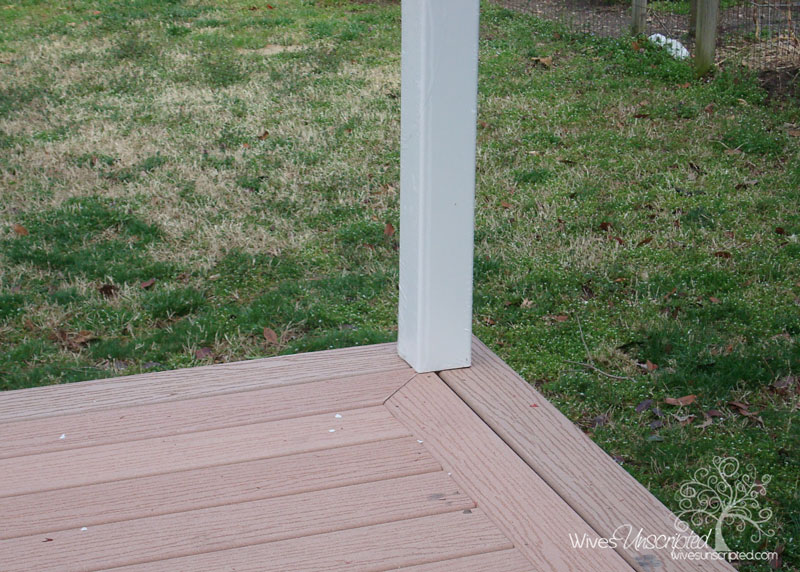 Picture Framing Deck Boards ~ We built a deck wivesunscripted
